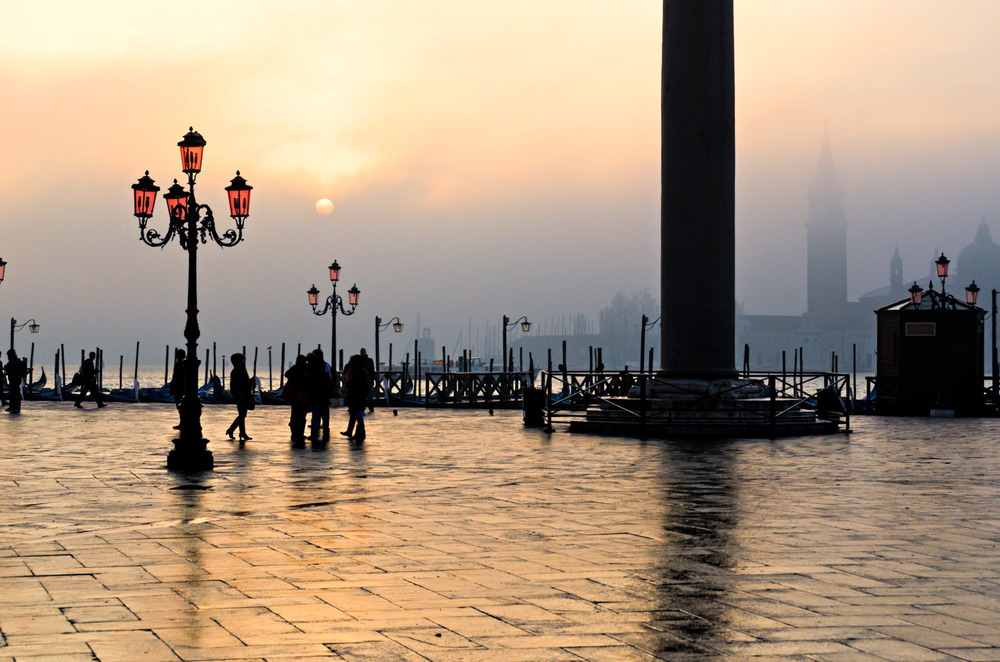 Sunrise over Fog, Piazetta San Marco