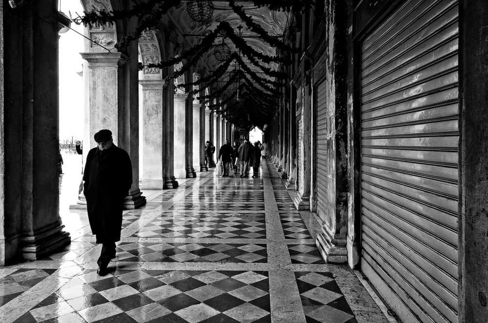Man in Piazza San Marco