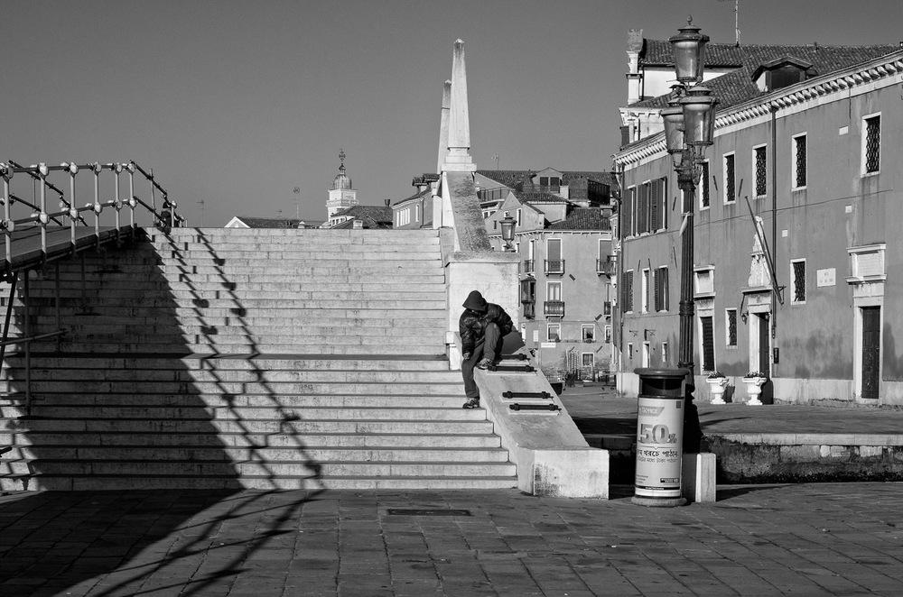 Man in Hoodie, Venice