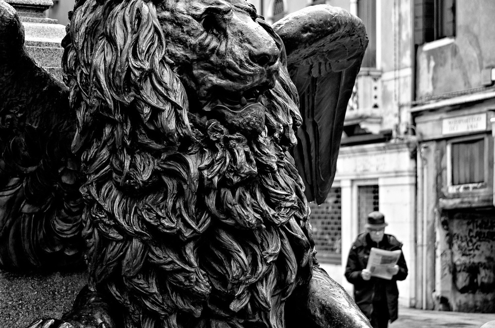 Venetian Lion and Man