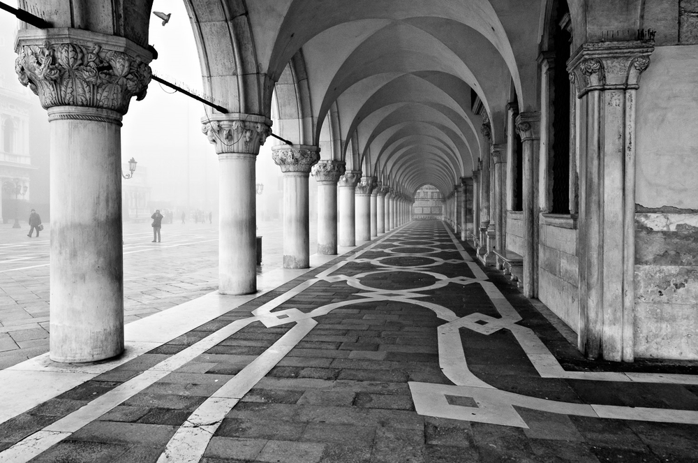 Fog at the Palazzo Ducale