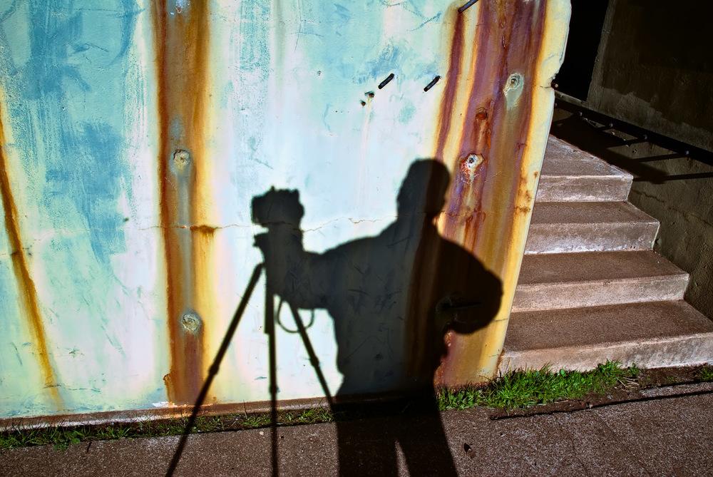 Self-Portrait at Bunker, Marin Headlands | Mark Lindsay