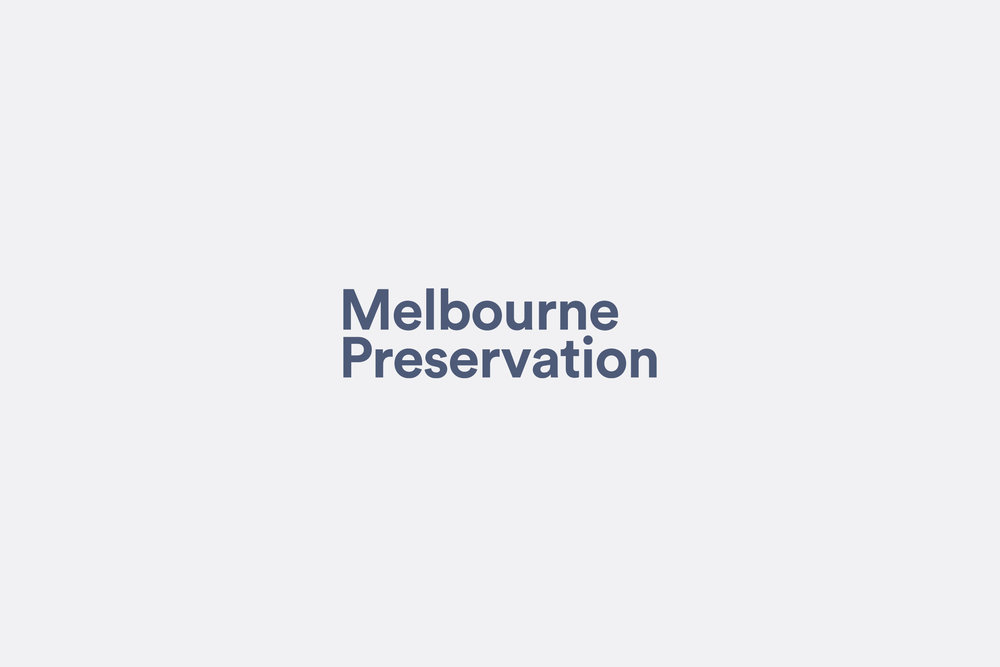Client  Melbourne Preservation   Project  Brand identity