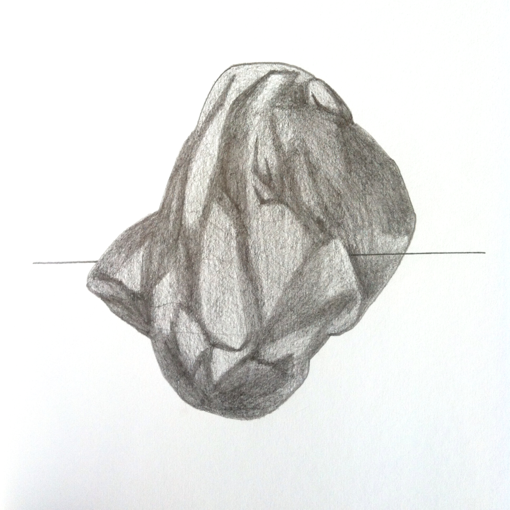 "Untitled sketchbook drawing, graphite, 7""x7"", 2013"