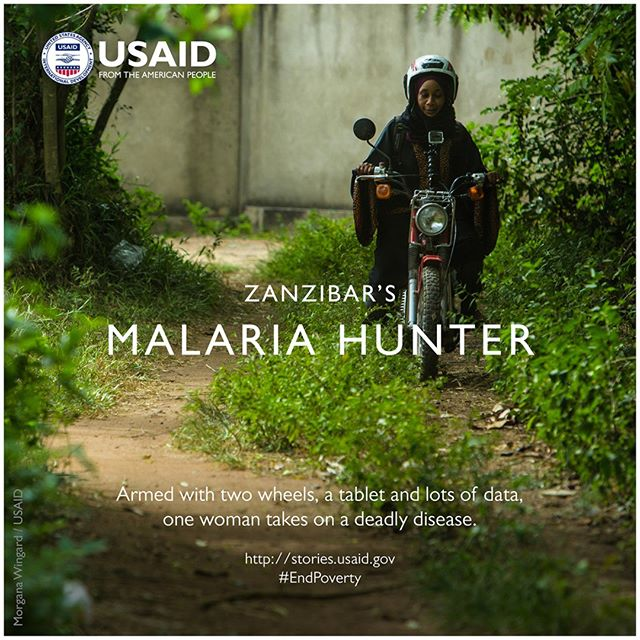 Our fifth film for @USAID's Extreme Possibilities series: Zanzibar's Malaria Hunter  Throughout history, more people have died of malaria than of any other disease. Despite recent global advances, malaria still kills more than 1,000 children each day, most in sub-Saharan Africa.  For the 1.3 million people on the islands of Zanzibar, off the coast of Tanzania, the bite of the Anopheles mosquito has always been a real and present danger.  Habiba Suleiman Sefu is fighting that danger, one case at a time. She works as a malaria surveillance officer in Shakani village, in southwest Zanzibar. Her job: to track, test and treat cases of the disease to stop its spread.  Watch how she hunts malaria down at http://stories.usaid.gov/zanzibars-malaria-hunter/#page-4.  #malaria hunter. #EndPoverty @USAIDGH @RTI_Intl @CDCgov #DefeatMalaria #Zanzibar #Tanzania