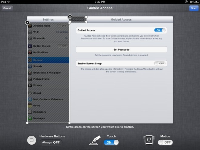 Guided Access on the iPad - new feature in iOS 6