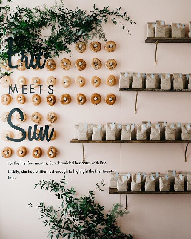 Something that we've been noticing is more couples are meeting each other online, we had all types of couples: @eharmony @match and even @tinder ! Guess where Eric met Sun ? ⠀⠀⠀⠀⠀⠀⠀⠀⠀ PS: those are not donuts! ⠀⠀⠀⠀⠀⠀⠀⠀⠀ Planner: @klinkevents Installation: @cclweddings Venue: @ebelloflb ⠀⠀⠀⠀⠀⠀⠀⠀⠀ #thetimeswehave #fridaenamorada #coffeemeetsbagel #ebelllongbeach #weddinginspiration #losangeleswedding