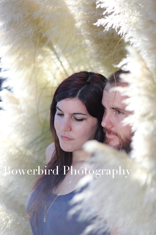 Feather romance! © Bowerbird Photography 2012; Engagement Photography at the Panhandle, San Francisco.
