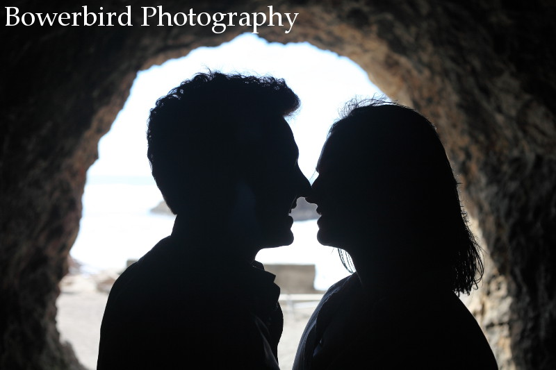 You know where this is heading!  © Bowerbird Photography 2012; Engagement Photography at Lands End, San Francisco.