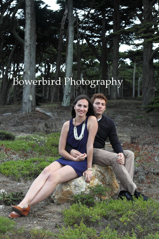 Glam-o-rama! © Bowerbird Photography 2012; Engagement Photography at Lands End, San Francisco.