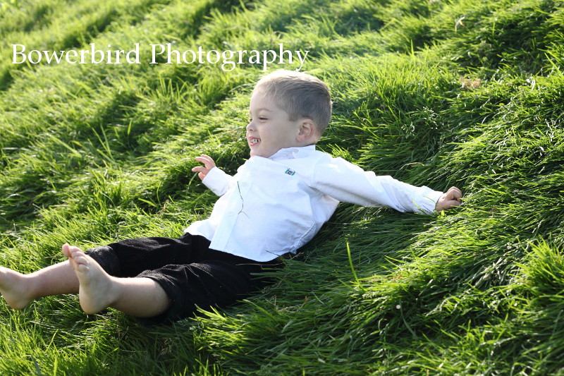 A pro in action at rolling down the hill :) © Bowerbird Photography 2012; Family Photography at Crissy Field, San Francisco.