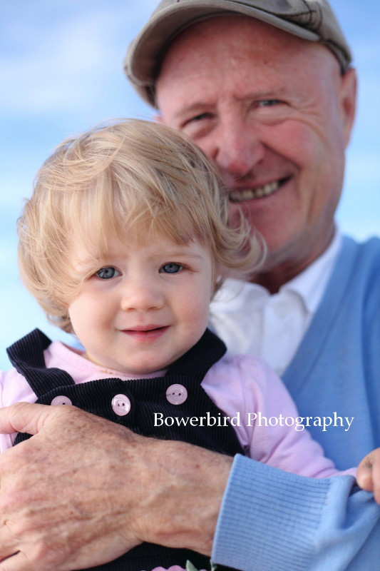 Big grandpa hug! © Bowerbird Photography 2012; Family Photography at Crissy Field, San Francisco.