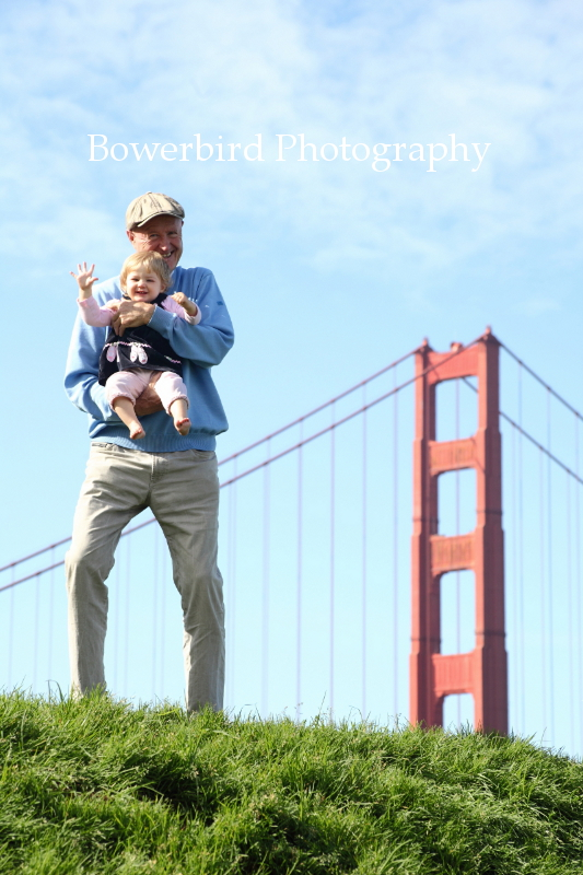 So happy and so classic with the Golden Gate Bridge. © Bowerbird Photography 2012; Family Photography at Crissy Field, San Francisco.