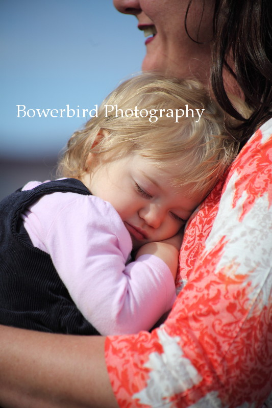 And after a long day at the beach, it was time for a nap. © Bowerbird Photography 2012; Family Photography at Crissy Field, San Francisco.