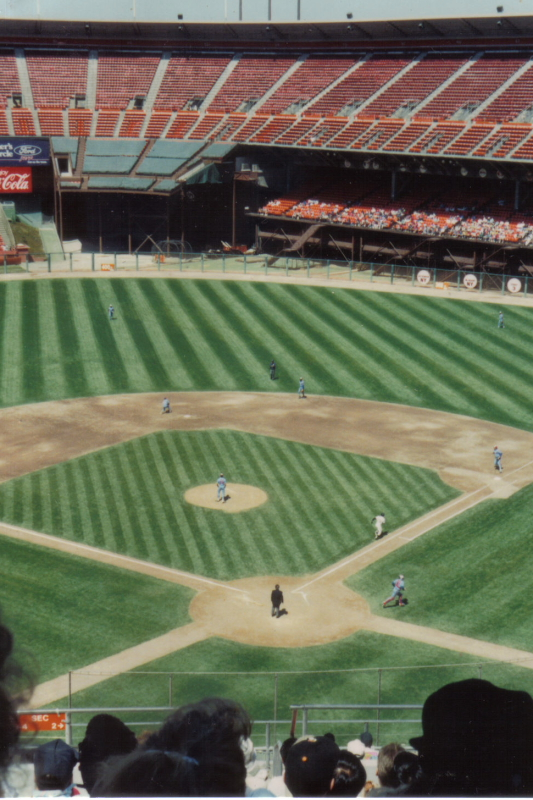 1991, Candlestick Park, the SF Giants vs. Montreal Expos. Photo by Robert Soto.