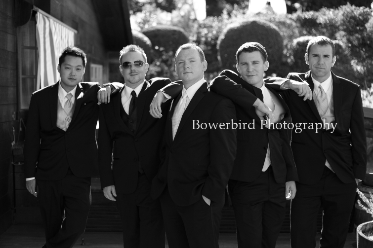 The handsome gents. © Bowerbird Photography 2012; Wedding Photography at Fogarty Vineyards, Woodside.