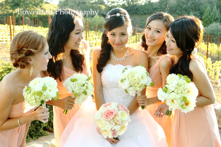 The lovely ladies. © Bowerbird Photography 2012; Wedding Photography at Fogarty Vineyards, Woodside.