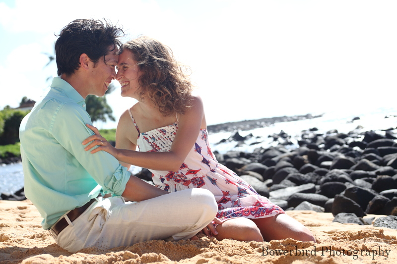 Enjoying time on the beach together. ©Bowerbird Photography 2012; Travel Photography, Kauai, Hawaii.