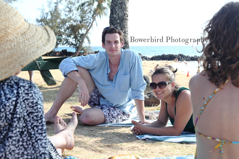 Post yoga class, relaxing on the beach.©Bowerbird Photography 2012; Travel Photography, Kauai, Hawaii.