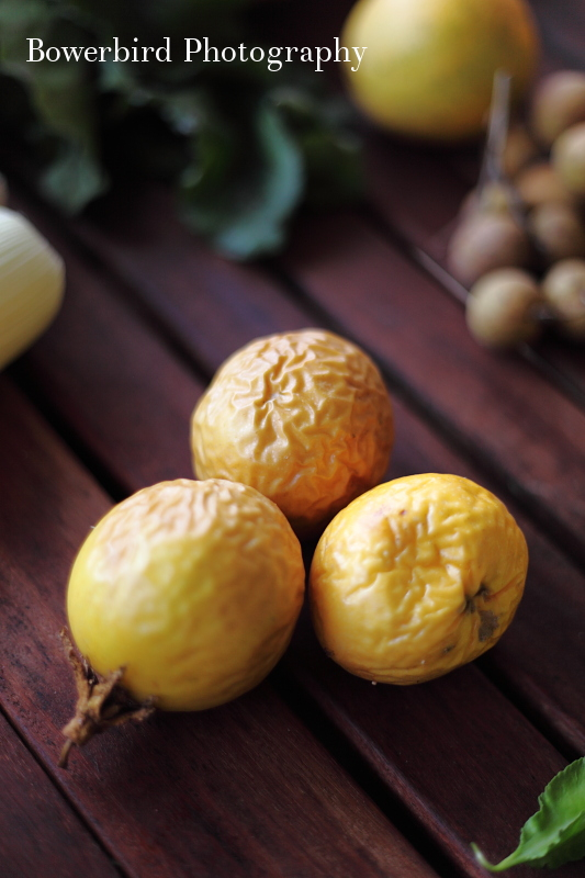 Fresh passion fruit.