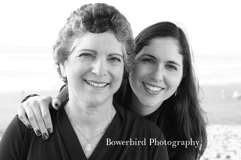 Beautiful mama Diane and Giuliana. © Bowerbird Photography 2012; Family Photography at Ocean Beach, San Francisco.