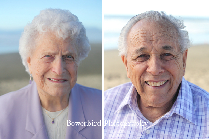 The grands, looking sharp. © Bowerbird Photography 2012; Family Photography at Ocean Beach, San Francisco.