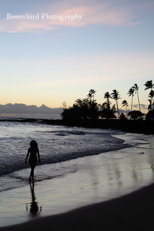 Sunset at Poipu Beach. © Bowerbird Photography 2012; Travel Photography Kauai, Hawaii.