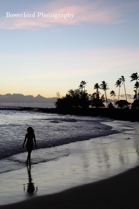 Sunset at Poipu Beach.© Bowerbird Photography 2012; Travel Photography Kauai, Hawaii.