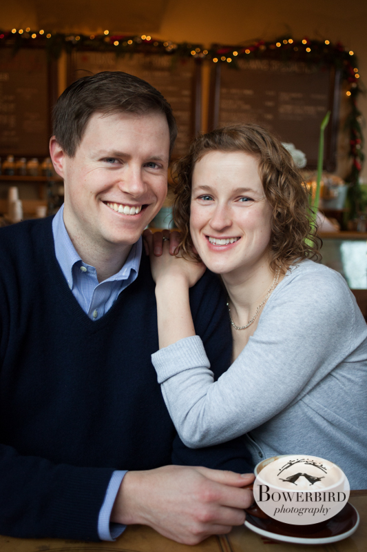 Love over coffee and tea. © Bowerbird Photography 2012; Couple's Photography in Seattle.