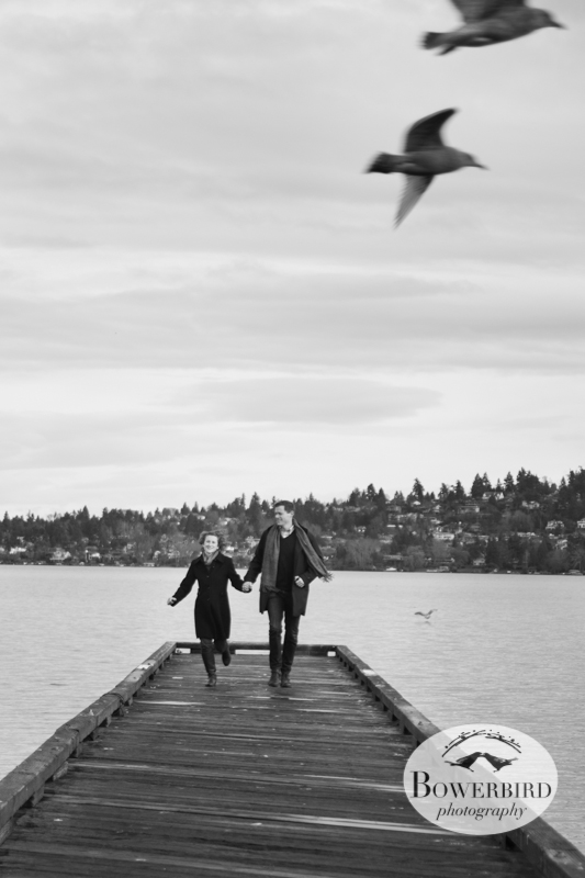 Love birds! © Bowerbird Photography 2012; Couple's Photography in Seattle.