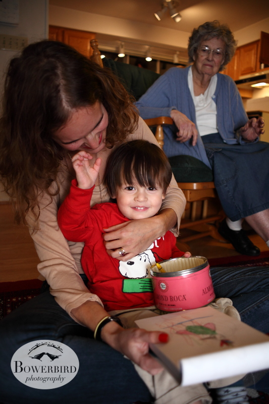 Our sweet nephew Eli, drawing with Auntie Ariel. ©  Bowerbird Photography 2013; Family Photography, Seattle.