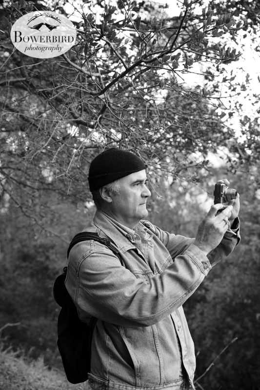 Dad on a hike in Tilden Park on New Year's Day. © Bowerbird Photography 2013; Family Photography, Berkeley.