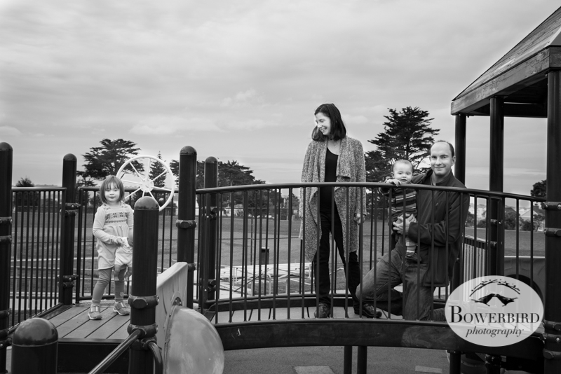 A family portrait on the playground. © Bowerbird Photography 2013; San Francisco Family Photography.