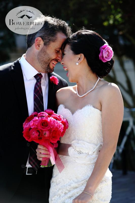 So happy!! ©Bowerbird Photography 2013; St. Ignatius Church Wedding, San Francisco.