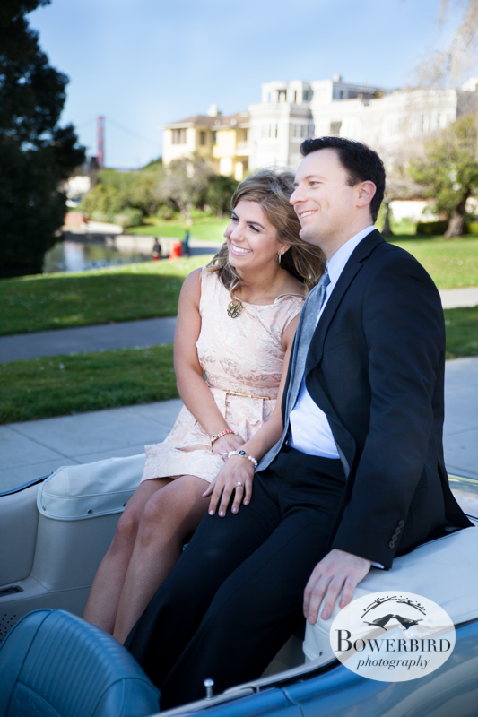 There's something so royal and fabulous about this photo! © Bowerbird Photography 2013; Engagement Photography at Palace of Fine Arts, San Francisco.