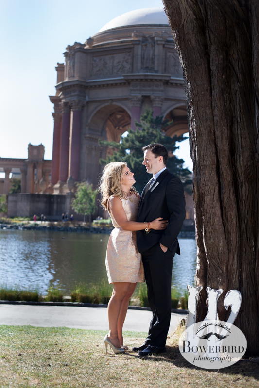 © Bowerbird Photography 2013; Engagement Photography at the Palace of Fine Arts, San Francisco.