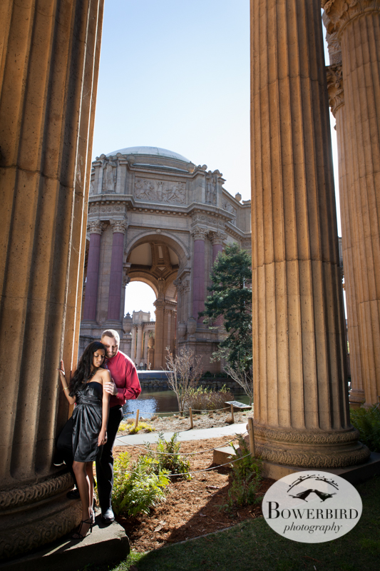 Very glam! © Bowerbird Photography 2013; Engagement Photography at the Palace of Fine Arts, San Francisco.