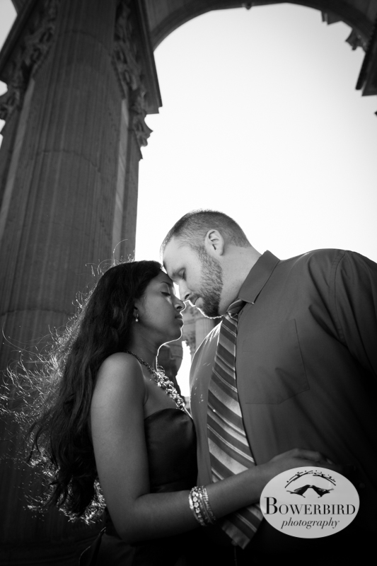 True love. © Bowerbird Photography 2013; Engagement Photography at the Palace of Fine Arts, San Francisco.