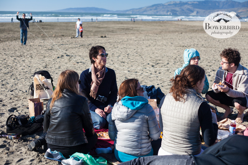 The whole posse. © Bowerbird Photography 2013, Sam's birthday picnic at Ocean Beach.