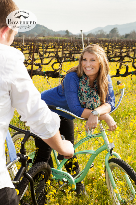 Taking a break in the sun.  What a fun day! ©  Bowerbird Photography 2013; Engagement Photography in Napa Valley, CA.