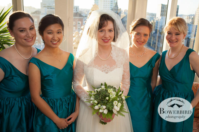 All the ladies :) © Bowerbird Photography 2013; Mark Hopkins Hotel Wedding, San Francisco.