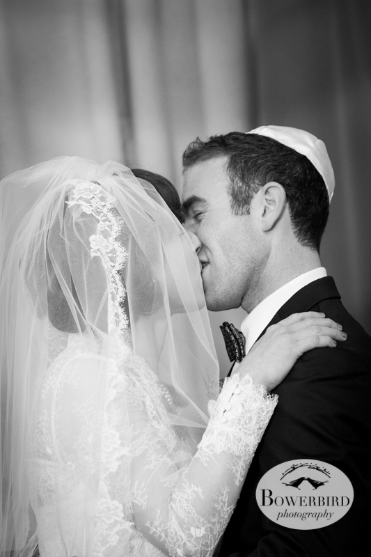 And seal it with a kiss! © Bowerbird Photography 2013; Mark Hopkins Hotel Wedding, San Francisco.
