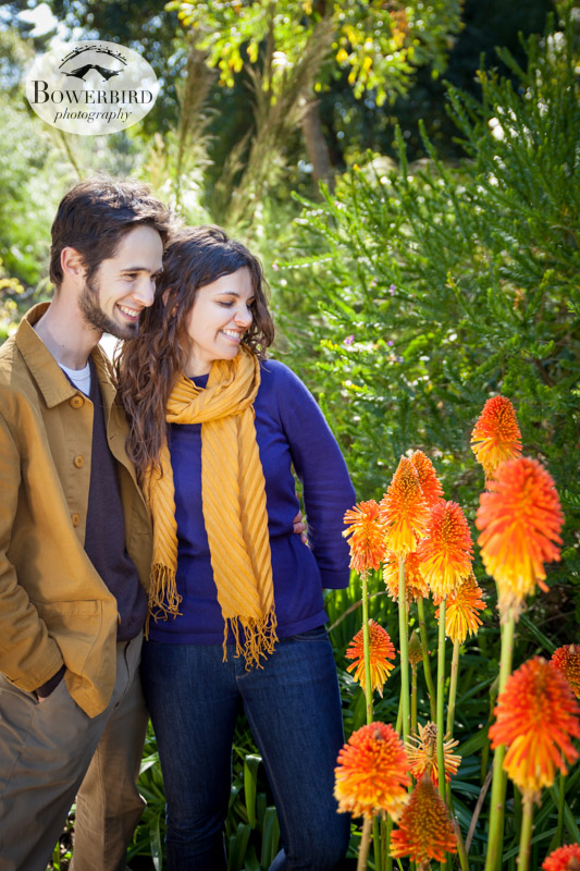 © Bowerbird Photography 2013; Engagement Photography in Golden Gate Park, Botanical Gardens, San Francisco.