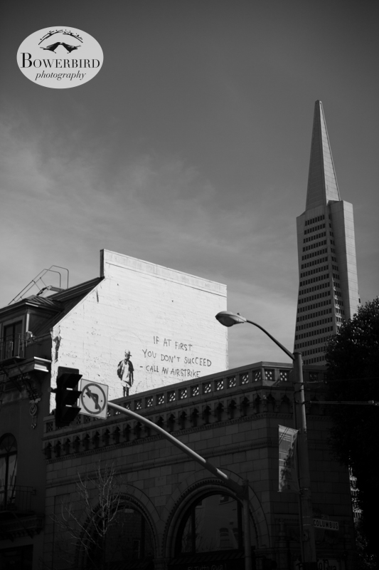 The Transamerica Pyramid. © Bowerbird Photography 2013; Engagement Photography Site Visit, San Francisco.