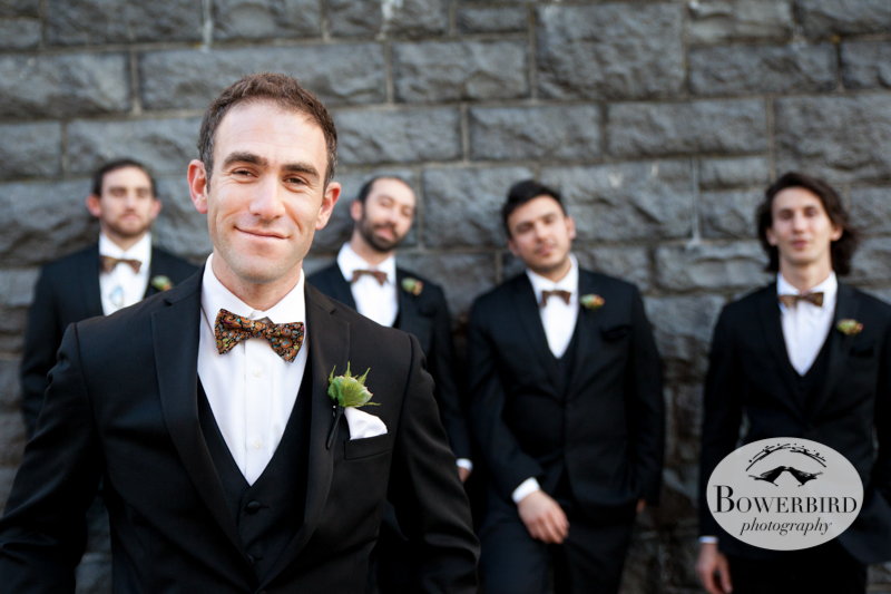 Matt and his groomsmen. © Bowerbird Photography 2013; Mark Hopkins Hotel Wedding, San Francisco.