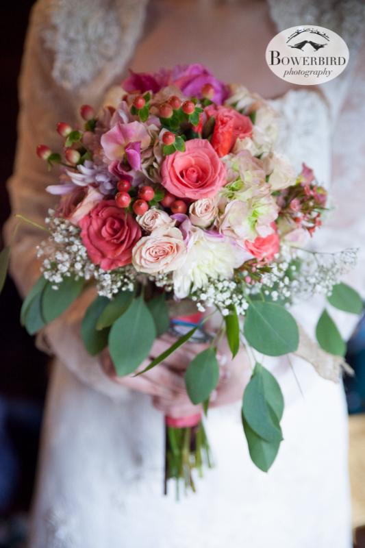 Erica's bouquet is just gorgeous. © Bowerbird Photography 2013; Lesbian wedding in Bastrop, Texas at Cedar Bend.