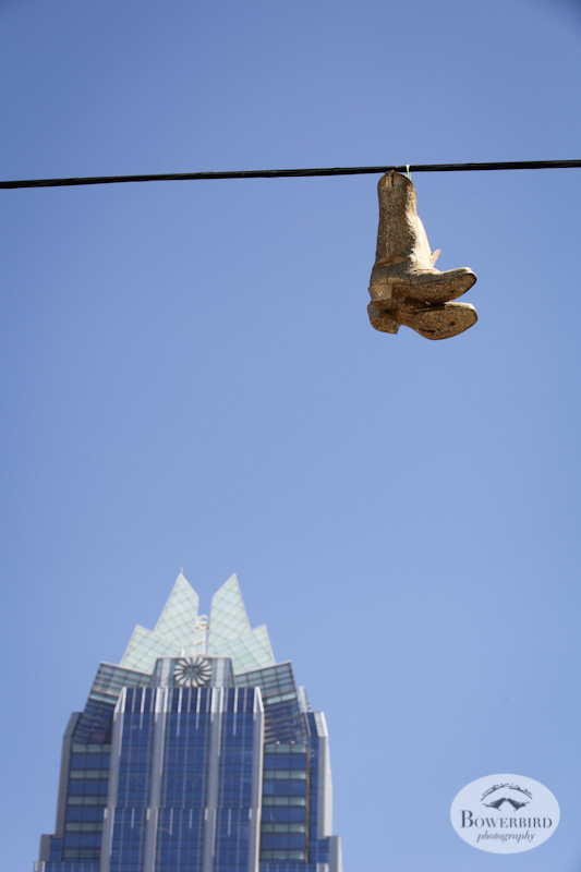 City scape and cowboy boots ;) © Bowerbird Photography, Austin and SXSW 2013 Photo.