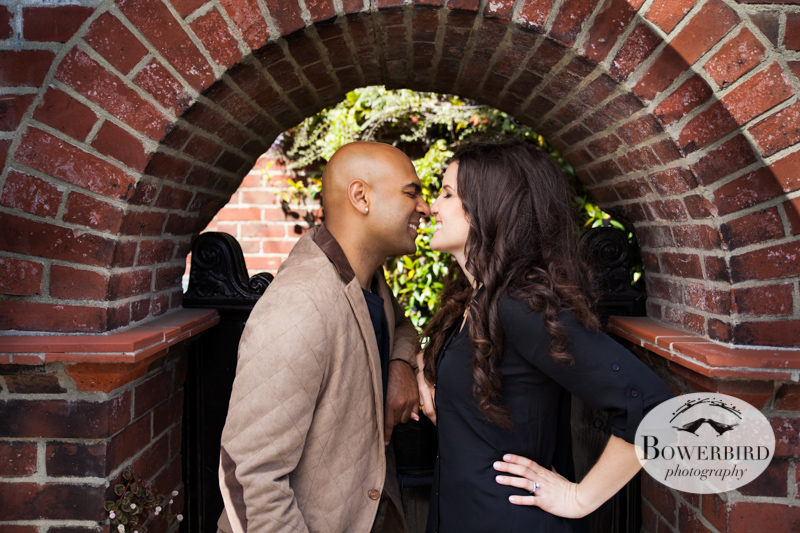 A-door-able in the doorway. © Bowerbird Photography 2013; San Francisco Engagement Photo.