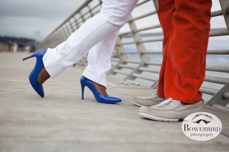 Sexy shoes :) © Bowerbird Photography 2013; San Francisco, Waterfront Engagement Photo.
