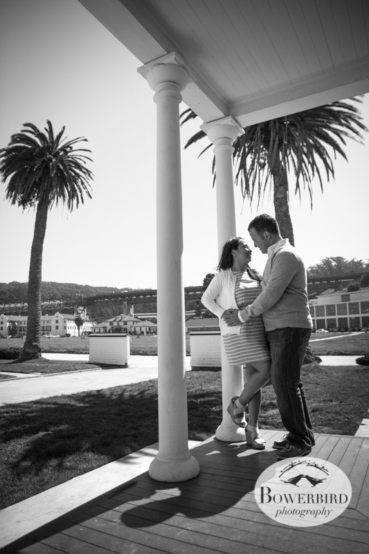 Love those palm trees! © Bowerbird Photography 2013; San Francisco Engagement Photo.